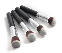 Bis Sale!!!Professional 4 pcs Black Synthetic Kabuki Flat Foundation Brush Single Makeup Cosmetic Brush
