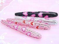 2014 Hot Free shipping(50pcs/lot) wholesale Fashion 10.5cm twist heart bling ball pen cute gift pen