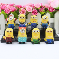 8 styles Despicable Me action figure toys Despicable Me action toys cartoon small dolls set for child birthday gifts TY66