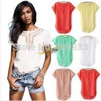 PROMOTION SALE American fashion t shirt women new 2014 summer chiffon joker dress girls novelty printed tshirt big size women'