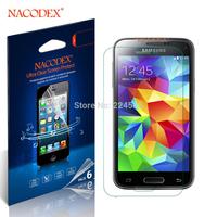 6pcs Nacodex HD Clear screen Protector Cover Film For Samsung Galaxy S5 Mini / G800 [100% Original] [Retail Box] [Free Shipping]