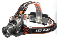 1300 Lumens CREE XM-L  U2 LED  ZOOMABLE Headlamp Headlight  Free Shipping