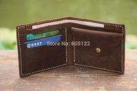 All In One Billfold Short Wallet Change Pocket Credit Card Slots Cash Purse Men/Women Gift-V015-1