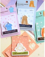 New arrived(20sets/lot), Cute animals pattern sticker/vintage style notepad/memo/paper notebook/note book,4 designs, JY035