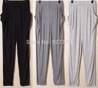 2014 new arrival modal plus size loose trousers thin yoga pants casual pants sports pants women