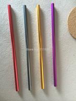New! Free shipping colorful aluminum drinking straws 50pcs/lot food grade juicy straws mixed colors factory direct shipping