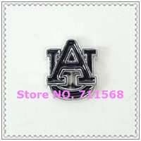 Black Auburn Tigers Floating Charms USA Football Teams Charm For Glass Floating Locket Accessories