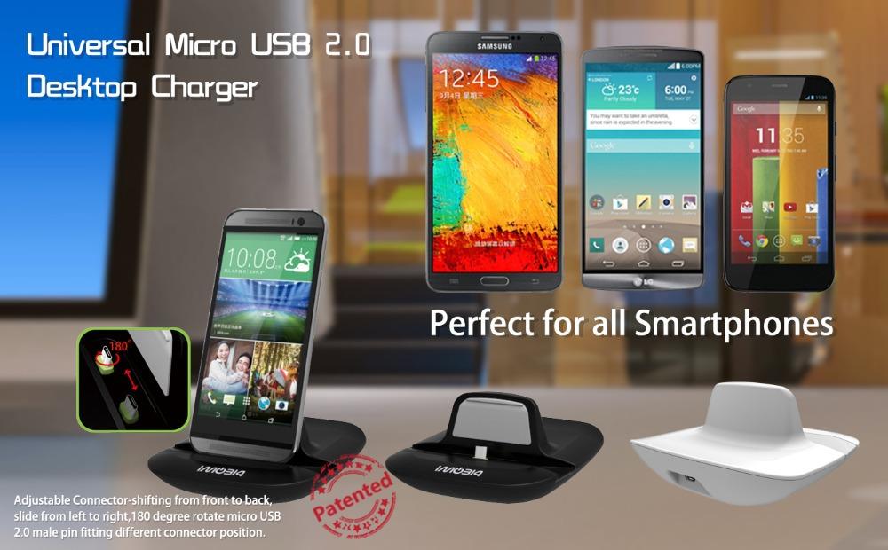 iMobi4 Universal Micro USB 2.0 Cradle Desktop Dock Charger for Android smartphone (black)(China (Mainland))