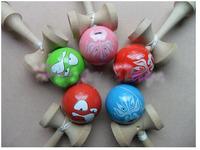 Fedex/EMS, Professional Kendama Ball Japanese Traditional Wood Game Kids Toy PU Paint & Beech Good Quality, 200PCS