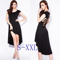 Free shipping sexy summer women's 2014 Irregular hollow backless dress