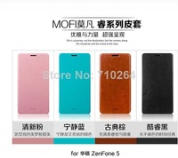 Hot!! Original MOFI Side Open Flip PU Stand Leather Case For Asus Zenfone 5 With Retail Package, Free Shipping