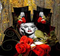 Marilyn Monroe red rose 3d bedding sets 3d bed beding set black 3_d comforter cover bedsheet pillow cases pillow cover B2770