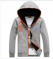 free shipping men's hoodies,2014 new style winter and autumn fashion men hoodies, hot selling slim thin jacket coat 63