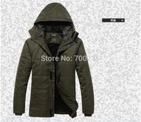 2014  winter  down Brand Man's Outerwear Slim Hooded cotton Jacket Men Warm Coat Comfortable clothes parka KK--1175 2XL 3XL 4XL