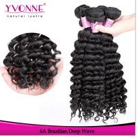 4 Bundles Deep Wave Cambodian Hair,Grade 5A Unprocessed Virgin Hair,100% Human Hair Weave,Aliexpress Yvonne Hair,Natural Color