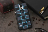 100pcs/lot Free shipping 13colours New arrival Grid style flip back cover case for samsung galaxy s5 i9600 protective case