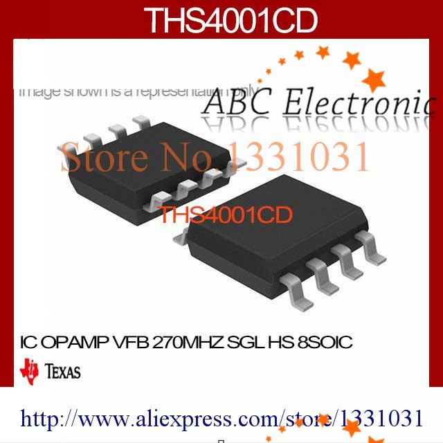 THS4001CD IC OPAMP VFB 270MHZ SGL HS 8SOIC THS4001CD 4001 THS4001 THS4001C 4001C S4001(China (Mainland))