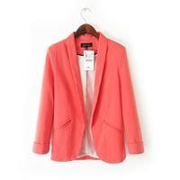Free shipping 2014 autumn winter new women's solid OL suit fashion thin blazer for women desigual brand ladies' stylish blazers