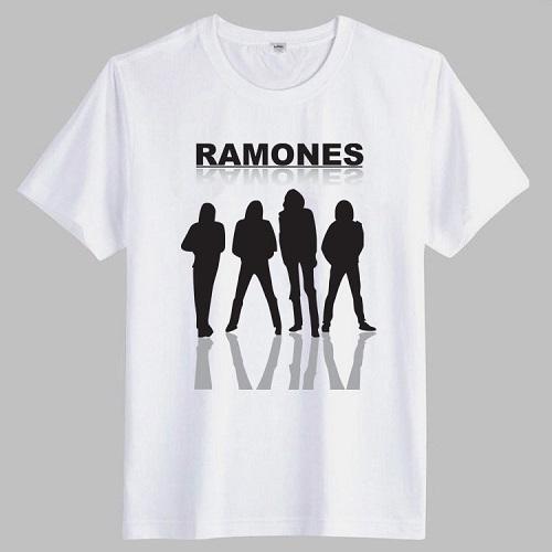 2015 NEW Men's casual summer t shrits Ramones Rock Band print music style short sleeve t-shirts plus size XXXL, W025(China (Mainland))