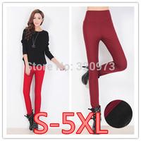 S-5XL size 2014 Winter new fashion Korea style plus size women cotton blends pencil trousers pants high waist trousers