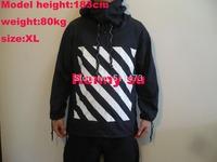 2014 fall new US hip hop kanye west  OFF WHITE stripe 13 striped windbreaker sun proof light weight  jacket