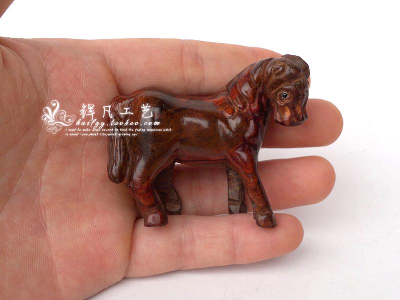 Red horse decoration rosewood wooden horse decoration wood zodiac animal small decoration furnishings(China (Mainland))