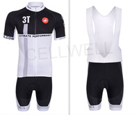 2013 New CASTELLI Black and White Cycling jersey bicycle bike wear shirt and bibs shorts or shorts Size :S ~XXXL