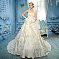 The new 2014 junoesque Continentaldiamond beaded embroidery satin wedding dress