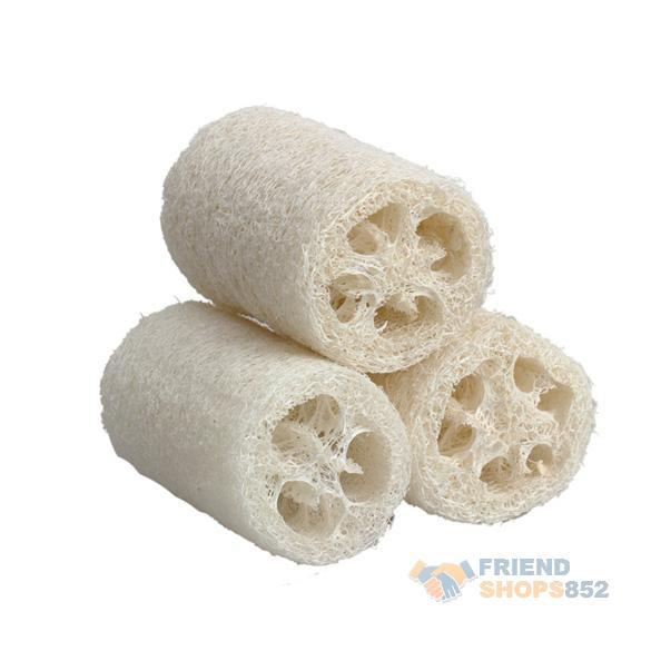3 Pieces Natural Loofah Luffa Loofa Bath Shower Sponge Spa Body Scrubber Horniness Remover Bathing Massage Sponge FE#8(China (Mainland))