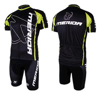 Merida Maillot Bicicleta Mountain Bike Ropa Ciclismo Bicycle Wear Cycling Jersey clothing Shirt Top+Shorts set 2014