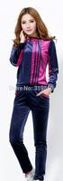 2014 gold velvet velor track suit sportswear suit female Korean fashion Spring and Autumn Sweater