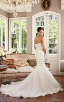 Hot sale White/ivory  sleeveless wedding dress Bridal gown Custom Size A-132
