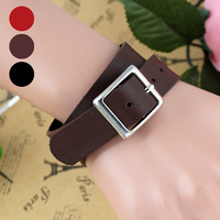 Free Shipping 18mm Unisex Simple Double Wrapped Leather Bracelet(10Pcs)(Three Colors Available)35093#