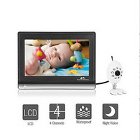 Free Shipping 7 inch LCD Widescreen wireless video baby monitor electronic babysitter / nanny security digital camera