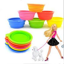 dogs dog shop pet supply Pet Dog Cat Fashion Silicone Collapsible Feeding Water Feeder Travel Bowl Dish Free shipping(China (Mainland))