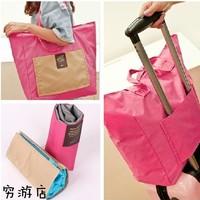 Foldable Portable Travel Pouch essential travel wash bag women shoulder bag luggage bags  Multicolor