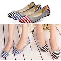 Shoe Woman Sneakers 2014 Boat Shoes Canvas Brand Korean Sneaker Branded Women's Print Stripe Canva Ladies Flats Ladies' Casuals