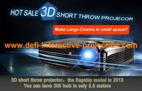DEFI LOW PRICE 5000 lumens data show short throw projector ,Overhead 3D short thow projector