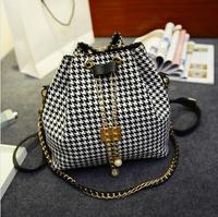 2014 New Hot Popular Retro Handbag women bag Fashion Woven Belt Handle Women Shoulder bag Wholesale free shipping