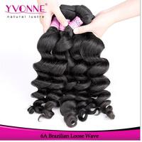 3 Bundles Cambodian Virgin Hair,Grade 5A Loose Wave Hair Weave,100% Human Hair,Top Quality Aliexpress YVONNE Hair,Color 1B