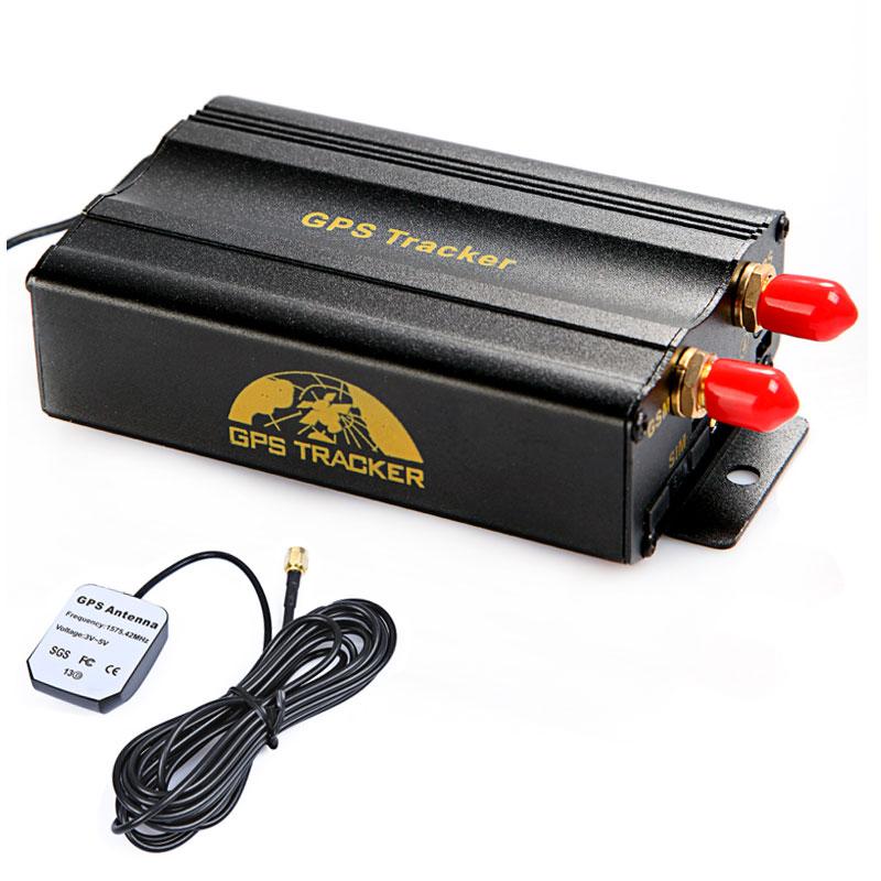 Auto Car Tracking Alarm System 103B+ 2 SIM Card Port GPRS GSM Vehicle Car GPS Tracker + Remote Control Real-time Google Map(China (Mainland))