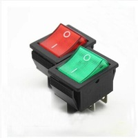 KCD4 feet 2 files pole red and green light xw-604AA1 large wave Rocker Switch