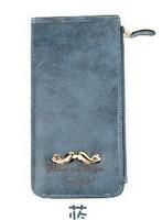 2013 new Korean fashion lovely matte gold letters Ms. Beard 2 fold multi- card bit long wallet card pack