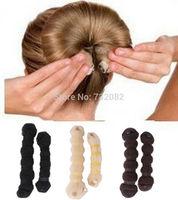 Free Shipping Hot Fashion Hair Elegant Magic Style Bun Maker Buns (1 large 1 small) 3 Colors  E5467