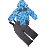 Good quality New 2014 Children windproof set(coat+pants) baby boy's outdoor warm active suit Fsahion ski set for 3-6T 3COLORS