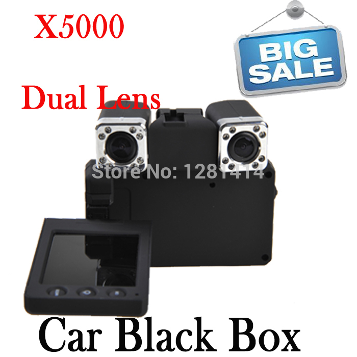 NEW !! Dual Cameras Full HD 1080P Remote Control Night vision Car black box X5000 Car DVR Drop shipping(China (Mainland))
