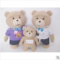 2014 high quality 60cm Teddy bear Ted dolls Man's Ted Bear stuffed plush toys birthday gift  free shipping best selling