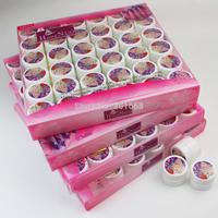 144pcs Saok off uv gel / pure color / sequins glitter / soak off pearly gel / Pigment Nail Art manicure UV Gel 5ml