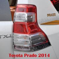 2014 FJ 150 2700/4000 Toyota Land Cruiser Prado Chrome Tail Lamp Trim Cover 2PCS