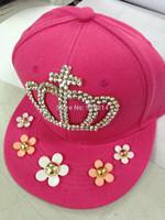 Misina Original 2014 fashion casual cute female hat white rhinestones flat cap limit